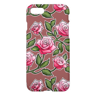 Marsala - Rose Floral iPhone 8/7 Case
