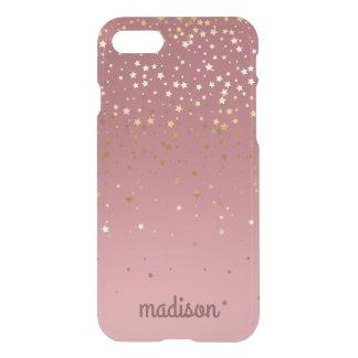 Marsala Rose Gold Stars iPhone 7 Case