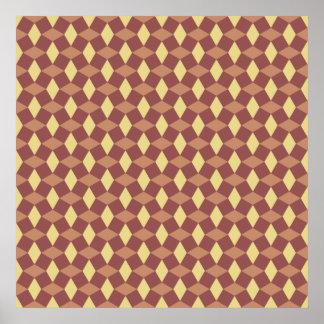 Marsala/Sandstone Pattern Poster