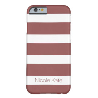 marsala strips monogram barely there iPhone 6 case