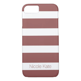 marsala strips monogram iPhone 8/7 case