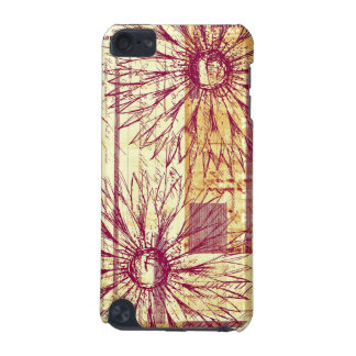 Marsala Vintage French Typography Flower Doodle iPod Touch 5G Cover