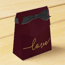 Marsala Wedding Favor Box, Wine Colored Favor Box
