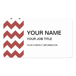 Marsala White Chevron Pattern Double-Sided Standard Business Cards (Pack Of 100)