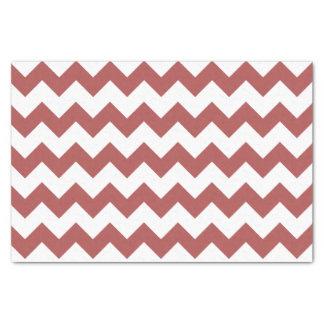 Marsala White Chevron Pattern Tissue Paper