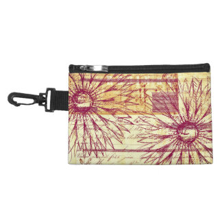 Marsala Wine Vintage French Typography Flowers Accessories Bags