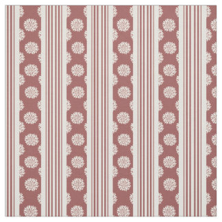 Marsala y rayas y materia textil blancas de los telas