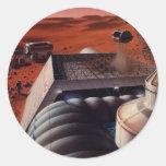 MarsBase Etiquetas Redondas