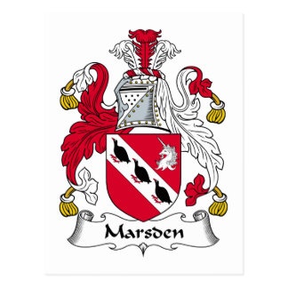 Marsden Family Crest Postcard