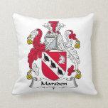 Marsden Family Crest Throw Pillow