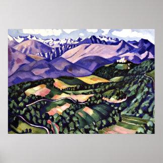 Marsden Hartley - montañas púrpuras, Venecia Impresiones