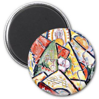 Marsden Hartley - Musical Theme 2 Inch Round Magnet