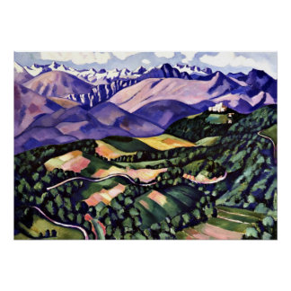 Marsden Hartley - Purple Mountains, Venice Poster