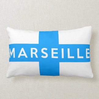 marseille city flag france country name text pillow