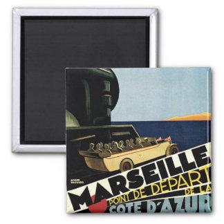 Marseille ~ Cote D'Azur 2 Inch Square Magnet