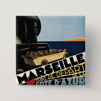 Marseille ~ Cote D'Azur Pinback Button