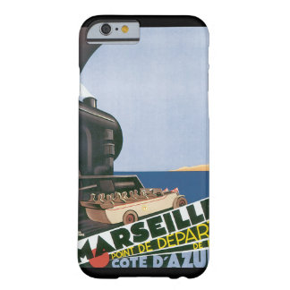 Marseille Cote D'Azur Vintage Travel Poster Barely There iPhone 6 Case
