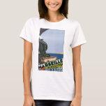 Marseille Cote D'Azur Vintage Travel Poster T-Shirt