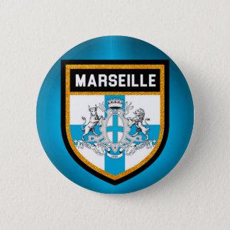 Marseille Flag Pinback Button