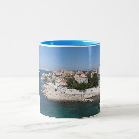 Marseille France Two-Tone Coffee Mug