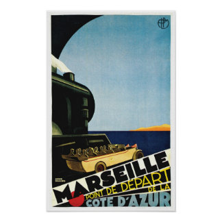 Marseille / Marseille - Cote D Azur France Travel Poster