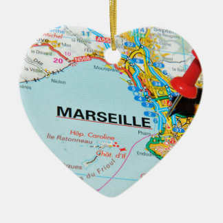 Marseille, Marseilles, France Ceramic Ornament