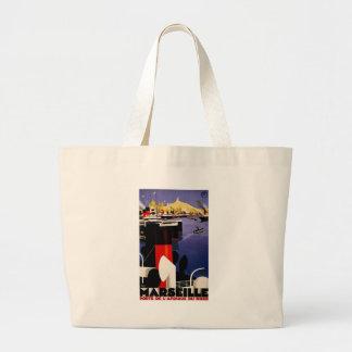 Marseille, porte de l'Afrique du nord Large Tote Bag
