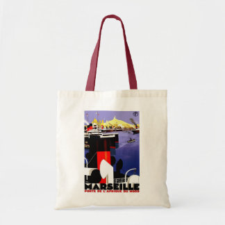 Marseilles, France Vintage Travel Tote Bag
