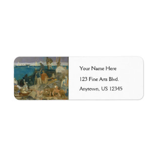 Marseilles, Gateway to the Orient by Puvis Custom Return Address Label