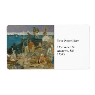 Marseilles, Gateway to the Orient by Puvis Custom Shipping Labels