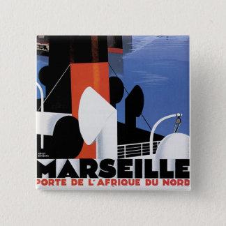 Marseilles Poster Pinback Button