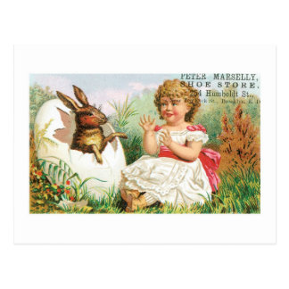 Marselly Shoe Store Easter Bunny Trade Card Postcards