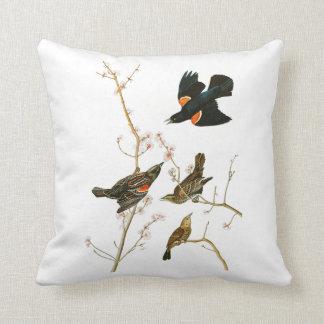 Marsh Blackbird John Audubon Birds of America Throw Pillow