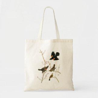 Marsh Blackbird John Audubon Birds of America Tote Bag