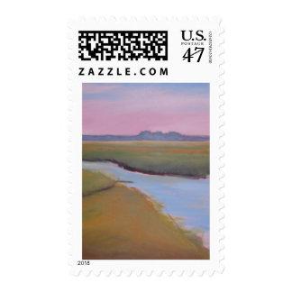 Marsh Channel Sunrise Postage
