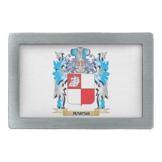 Marsh Coat of Arms - Family Crest Rectangular Belt Buckle