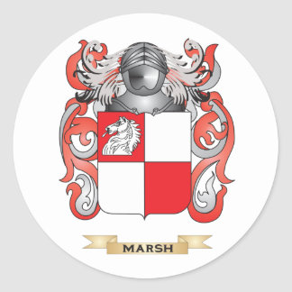 Marsh Coat of Arms (Family Crest) Round Sticker