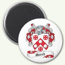 Marsh Family Crest Magnet