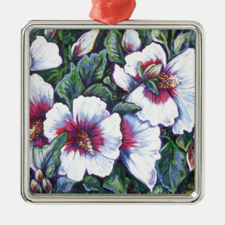 marsh hibiscus metal ornament