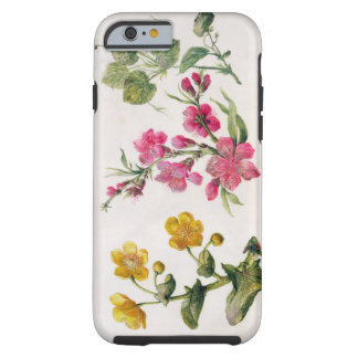Marsh Marigold, Japonica, Violet (w/c on paper) Tough iPhone 6 Case