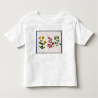 Marsh Marigold, Japonica, Violet (w/c on paper) Tee Shirt