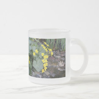 Marsh Marigolds of Bachelder Brook Frosted Glass Coffee Mug
