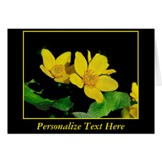 Marsh Marigolds Personalize Text Greeting Cards