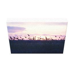 Marsh Reeds at Sunset Canvas Print