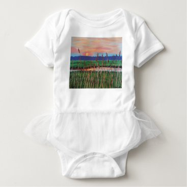 Beach Themed Marsh View Baby Bodysuit