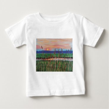 Beach Themed Marsh View Baby T-Shirt