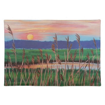 Beach Themed Marsh View Cloth Placemat