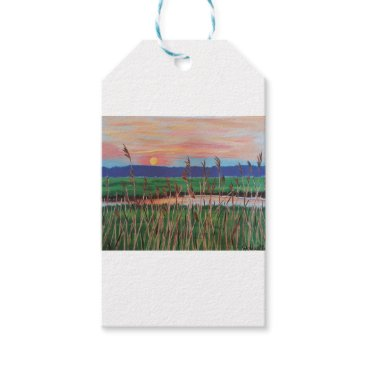Beach Themed Marsh View Gift Tags