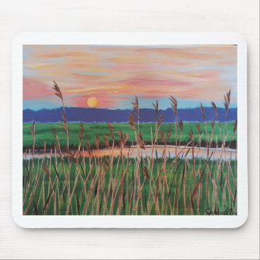 Beach Themed Marsh View Mouse Pad