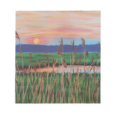 Beach Themed Marsh View Notepad